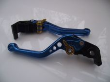 Ducati 1198/S/R (09-11), CNC levers short blue/gold adjusters, F11/H11